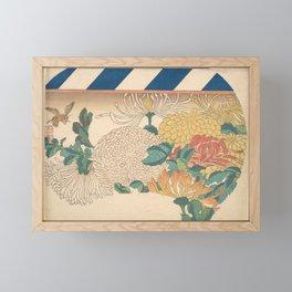 Chrysanthemums in Fan-shaped Design Framed Mini Art Print
