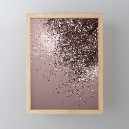 Sparkling Mauve Lady Glitter #1 #shiny #decor #art #society6 Framed Mini Art Print