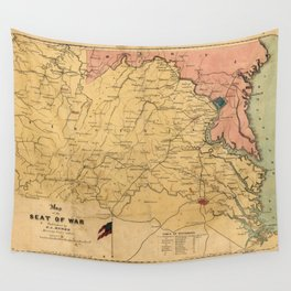 Map of the Seat of War, Virginia & Maryland (1861) Wall Tapestry