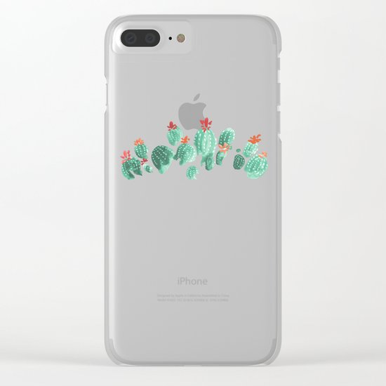 Cactus (3) Clear iPhone Case