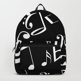Music in the Air Black Backpack