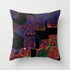 Electric Cubes  Throw Pillow