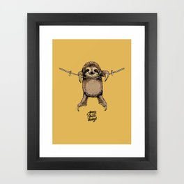 Hang in There Baby Sloth Framed Art Print