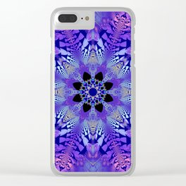 Pink, purple and sand kaleidoscope Clear iPhone Case