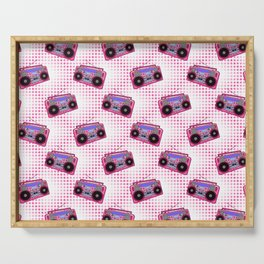 Boombox / Pink Serving Tray