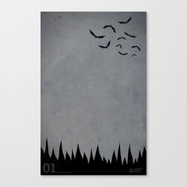 """Bats"" Halloween Poster Canvas Print"