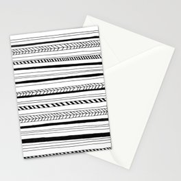 Abstract Black Lines Pattern Stationery Cards