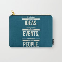 Lab No. 4 - Eleanor Roosevelt Typography Print art Inspirational Quote Poster Carry-All Pouch