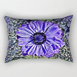 Lavender Anemone Dream   Painting  Rectangular Pillow