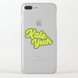 Kale Yeah Clear iPhone Case