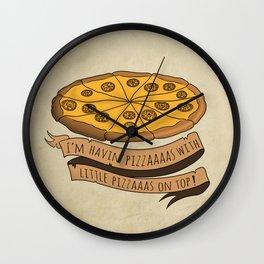 Donald Trump Pizza Wall Clock