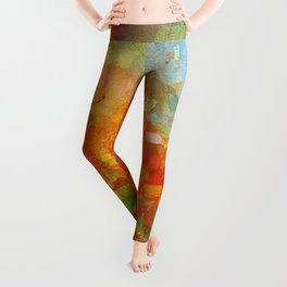 Abstract and Minimalist Landscape Painting Leggings