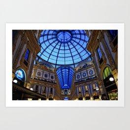 Shoping in Milan Art Print