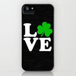 Love with Irish shamrock iPhone Case