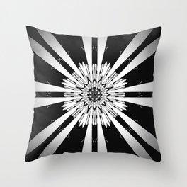 Bold Black and White Stripe Modern Star Design Throw Pillow