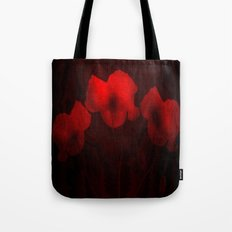 Poppies aglow Tote Bag