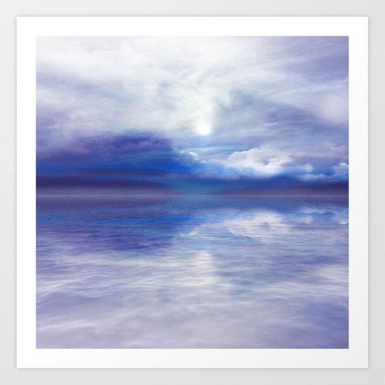 Sunset In Blue Art Print