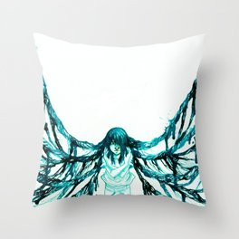 Caught in the spider's web Throw Pillow