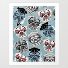 Pug Pattern Art Print