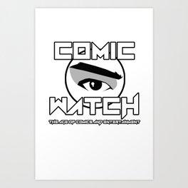 Comic Watch v4 no Background Art Print