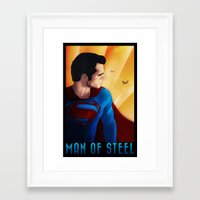 man of steel Framed Art Prints featuring Man of Steel by sevillaseas