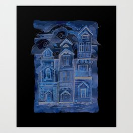 Houses In A Row Art Print