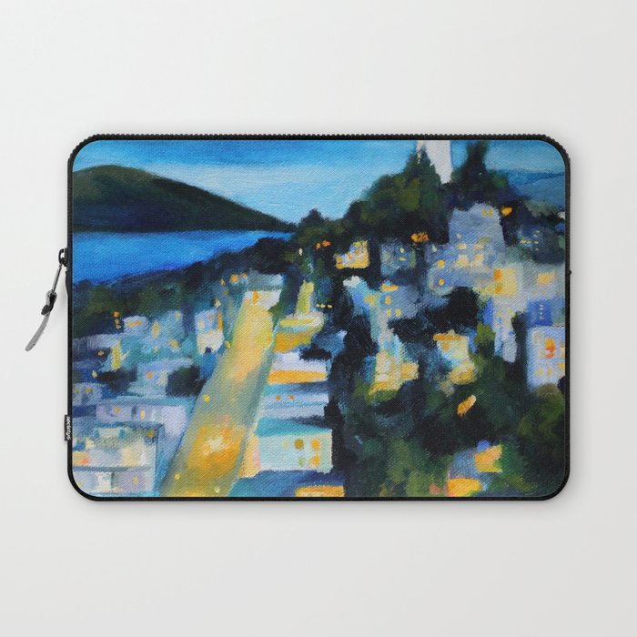Coit Tower San Francisco at Night Laptop Sleeve