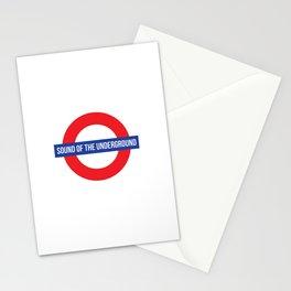 sound of the underground Stationery Cards