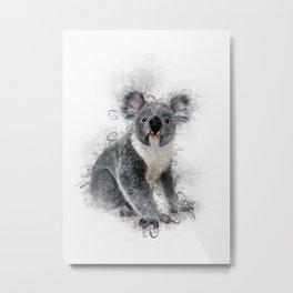 Koala Bear Art Metal Print