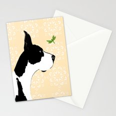 Great Dane Dog with Dragon Fly Stationery Cards