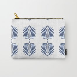 TROPICAL PALMS . WHITE + BLUE Carry-All Pouch