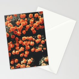 Orange flower fleurs Stationery Cards