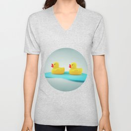 Rubber ducks Unisex V-Neck