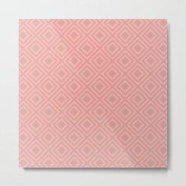 Blush Pink Modern Geometric Pattern Metal Print