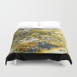 Blessed Is The Man Who Trusts In The Lord Duvet Cover
