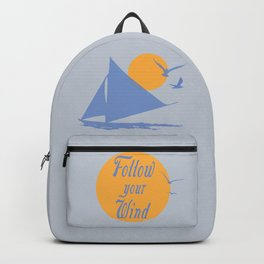 Follow your wind (sail boat) Backpack