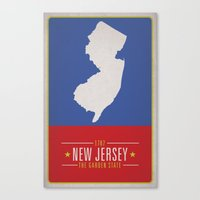new jersey Canvas Prints featuring NEW JERSEY by Matthew Justin Rupp