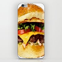 burger iPhone & iPod Skins featuring Burger by Owl Things