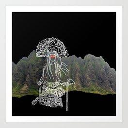 rocky mountain woman Art Print