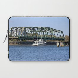 Swing Bridge And Boat Laptop Sleeve