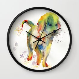 Colorful Puppy - Little Friend Wall Clock