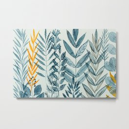 Leave Patterns Metal Print