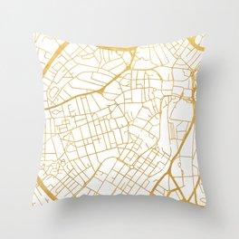 SHEFFIELD ENGLAND CITY STREET MAP ART Throw Pillow