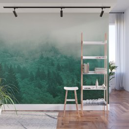 Misty Moody Mountain Forest Fog Northwest Oregon Washington Wall Mural