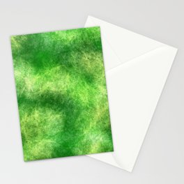 Organic Green Abstract Painting Stationery Cards