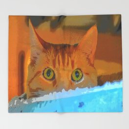 Sir Watson Tabby Digital Cat Throw Blanket