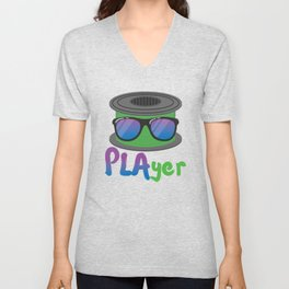 3D Printing PLAyer Funny 3D Print cool Sunglasses Fan Gift product Unisex V-Neck