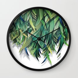 """Spring Forest of Surreal Leaf"" Wall Clock"