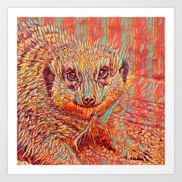ColorMix Meerkat 1 Art Print