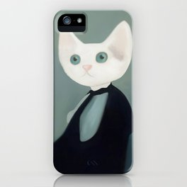 Whistler's Cat's Mother iPhone Case